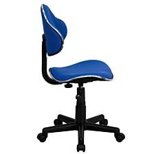 Blue Fabric Ergonomic Swivel Task Chair