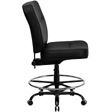 Hercules Series Big & Tall 400 Lb. Rated Black Leather Drafting Chair