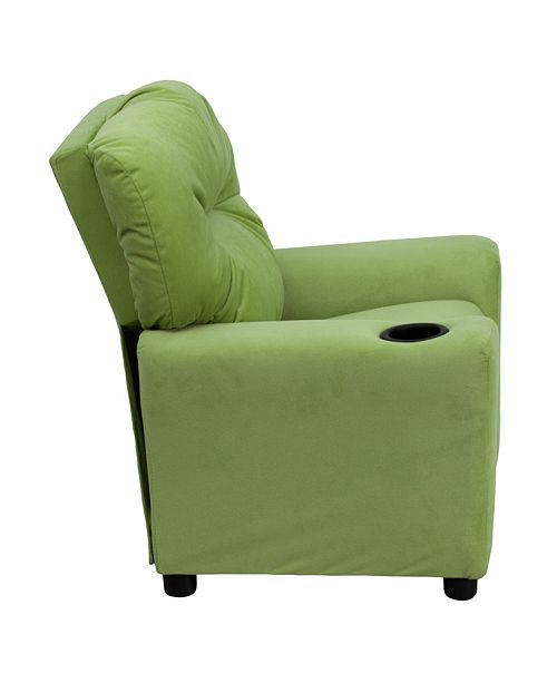 Flash Furniture Contemporary Avocado Microfiber Kids Recliner With Cup Holder