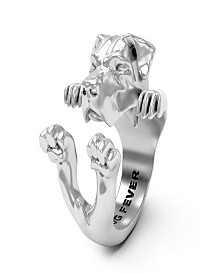 Cane Corso Hug Ring in Sterling Silver