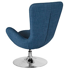 Egg Series Blue Fabric Side Reception Chair