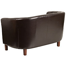 Hercules Colindale Series Brown Leather Tufted Loveseat