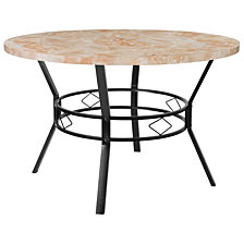 "Tremont 47"" Round Dining Table In Quartz Marble-Like Finish"