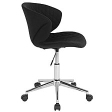 Cambridge Home And Office Upholstered Mid-Back Chair In Black Fabric