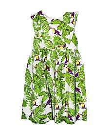 ROSIR Big Girls Toucans Empire - Waist Dress
