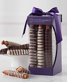 Mrs. Prindables Chocolate and Caramel Dipped Pretzels 9-Pc. Gift Set