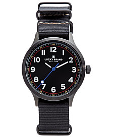 Lucky Brand Men's Jefferson Black Nato Strap Watch 38mm