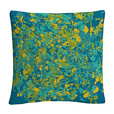 "Speckled Colorful Splatter Abstract 2 16x16"" Decorative Throw Pillow by ABC"