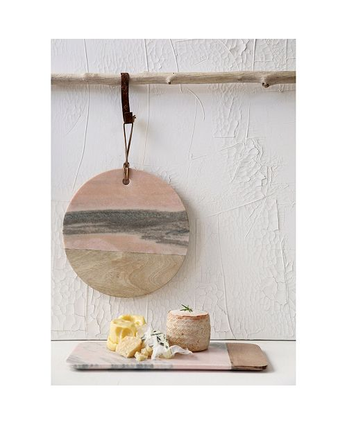 Macy Home Decor: 3R Studio Large Pink Marble Cheese Board & Reviews