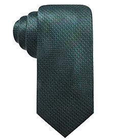 Ryan Seacrest Distinction™ Men's Kent Unsolid Solid Slim Silk Tie, Created for Macy's