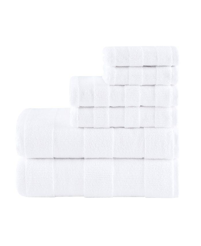 Madison Park - Signature Parker Luxury Stripe Jacquard Zero Twist 600GSM Cotton 6-Pc. Towel Set