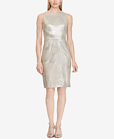 Lauren Ralph Lauren Metallic Faux-Suede Dress, Created for Macy's