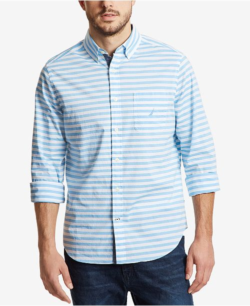Nautica Men s Classic Fit Horizontal Striped Shirt   Reviews ... e574c65ac