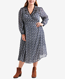 Lucky Brand Trendy Plus Size Embroidered Dress
