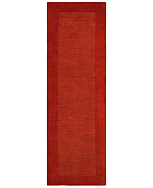 "Surya Mystique M-300 Burnt Orange 2'6"" x 8' Area Rug"