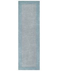 "Surya Mystique M-305 Medium Gray 2'6"" x 8' Area Rug"