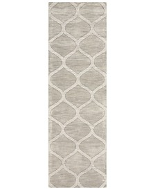 "Surya Mystique M-5101 Medium Gray 2'6"" x 8' Area Rug"