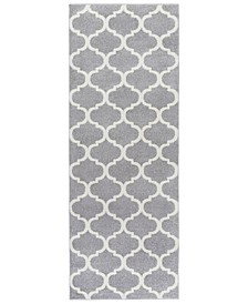 "Horizon HRZ-1001 Medium Gray 2'7"" x 7'3"" Area Rug"
