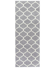 "Surya Horizon HRZ-1001 Medium Gray 2'7"" x 7'3"" Area Rug"