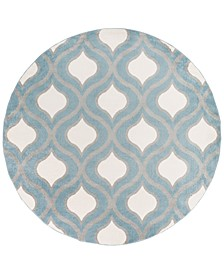"CLOSEOUT!  Horizon HRZ-1036 Denim 7'10"" Round Area Rug"