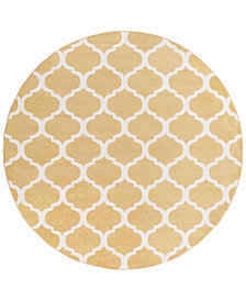 "Surya Horizon HRZ-1077 Wheat 7'10"" Round Area Rug"