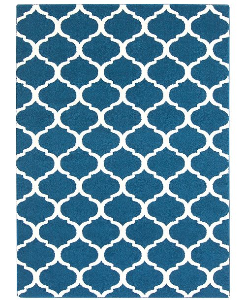 "Surya CLOSEOUT!  Horizon HRZ-1081 Navy 3'3"" x 5' Area Rug"