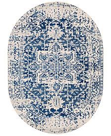 "Surya Harput HAP-1021 Dark Blue 6'7"" x 9' Oval Area Rug"
