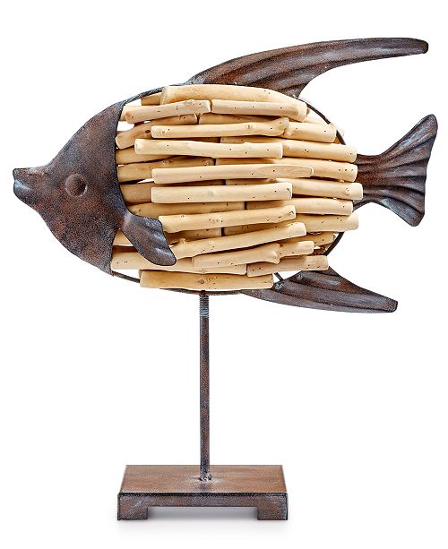 The Cellar CLOSEOUT! Coastal Driftwood Fish, Created for Macy's