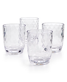The Cellar Coastal Double Old-Fashioned Acrylic Glasses, Set of 4, Created for Macy's