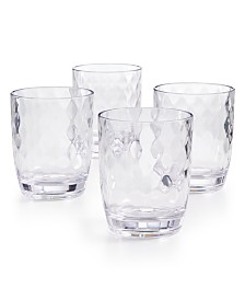 CLOSEOUT! The Cellar Coastal Double Old-Fashioned Acrylic Glasses, Set of 4, Created for Macy's