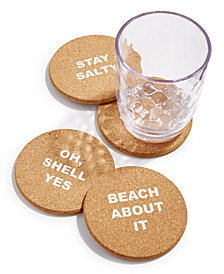 The Cellar Coastal Cork Coasters, Set of 4, Created for Macy's