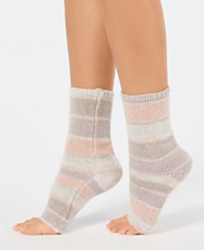 Lemon Striped Tip-Toe Pedicure Socks