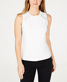 Tommy Hilfiger Sleeveless Shoulder-Laces Top