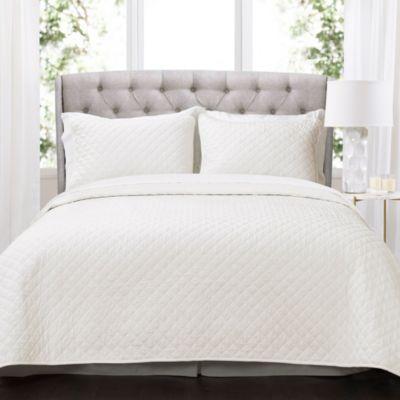 Ava Diamond Oversized Cotton 3Pc Full/Queen Quilt Set