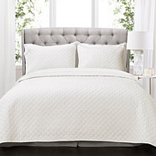 Ava Diamond Oversized Cotton 3-Piece Quilt Sets