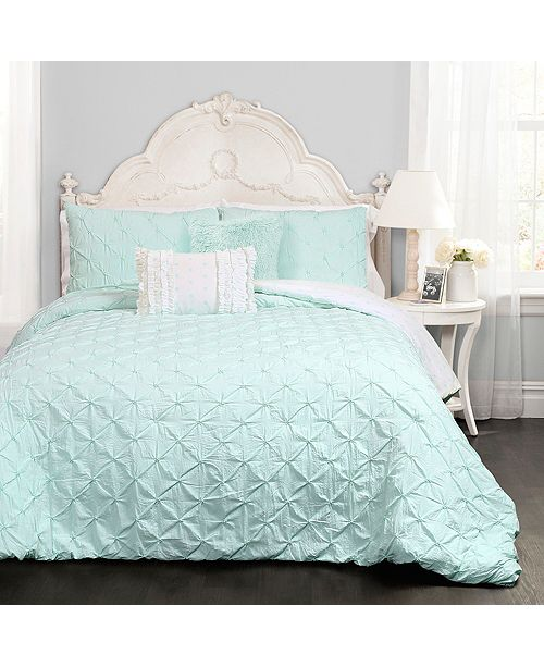 Lush Decor Ravello Pintuck Reversible 4-Piece Twin Comforter Set