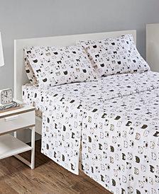 Intelligent Design Cozy Soft Twin Cotton Novelty Print Flannel Sheet Set