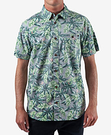 Rip Curl Men's Bender Regular-Fit Reverse Floral-Print Shirt