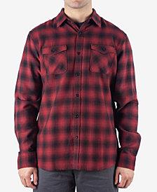 Rip Curl Men's Draco Regular-Fit Ombré Plaid Flannel Shirt