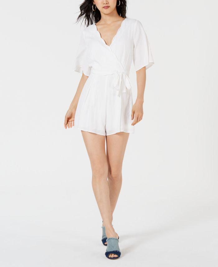 Trixxi Juniors' Scalloped Wrap Romper & Reviews - Dresses - Women - Macy's