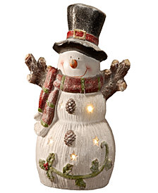"National Tree 18"" Snowman with Battery Operated LED Lights"