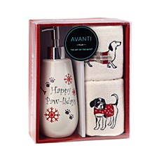 Happy Pawlidays 3-Pc. Lotion Pump and Fingertip Towel Box Set
