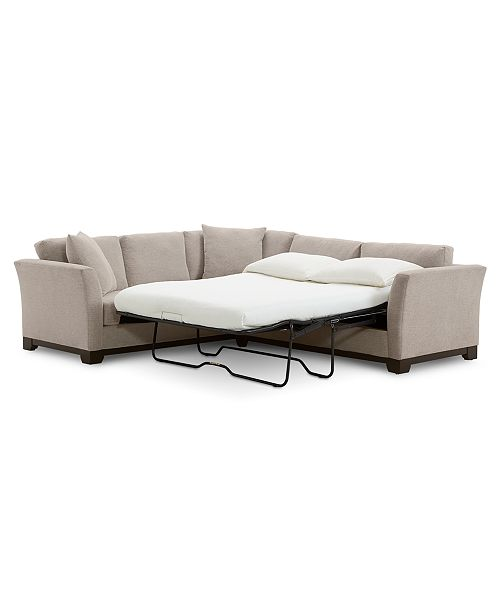 Elliot II 108 Fabric 2-Pc. Sleeper Sofa Sectional, Created for Macy\'s