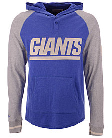 Mitchell & Ness Men's New York Giants Slugfest Lightweight Hooded Long Sleeve T-Shirt