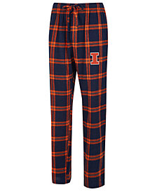 Concepts Sport Men's Illinois Fighting Illini Homestretch Flannel Pajama Pants