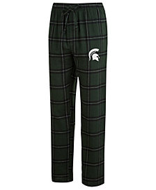 Concepts Sport Men's Michigan State Spartans Homestretch Flannel Pajama Pants