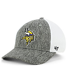 '47 Brand Minnesota Vikings Hazy Flex CONTENDER Stretch Fitted Cap
