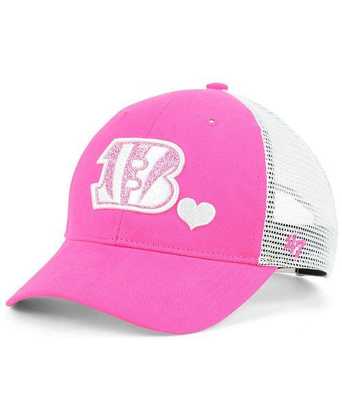 hot sale online df57a 63dd2 47 Brand Girls  Cincinnati Bengals Sugar Sweet Mesh Adjustable Cap ...