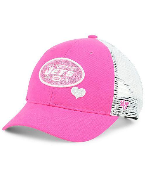5a67215e4d0 47 Brand Girls  New York Jets Sugar Sweet Mesh Adjustable Cap ...