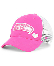 '47 Brand Girls' Seattle Seahawks Sugar Sweet Mesh Adjustable Cap